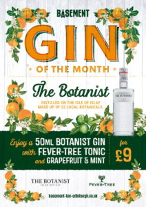 The Basement Gin of the Month The Botanist October 2021